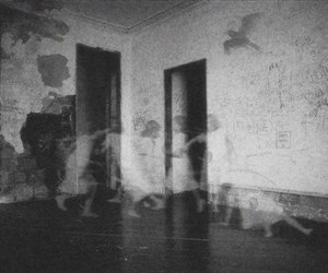 ghost, black and white, and dark image