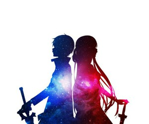 anime, couple, and sword art online image
