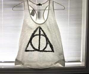 deathly hallows, fashion, and harry potter image