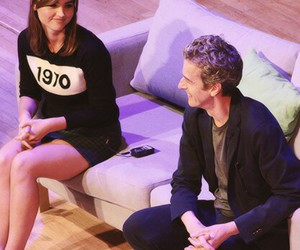 doctor who, peter capaldi, and jenna coleman image