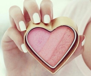 blush, heart, and pink image