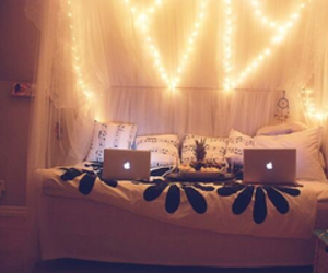 light, bed, and apple image