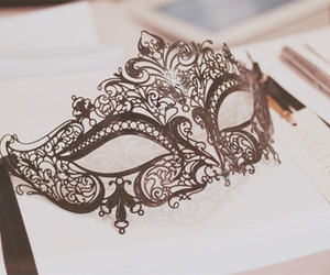 black, masquerade, and pretty image
