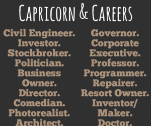 capricorn, career, and zodiac image