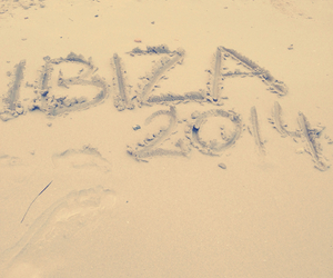 beach, ibiza, and sand image