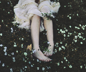 flowers, grunge, and dress image