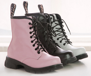 pink, black, and boots image