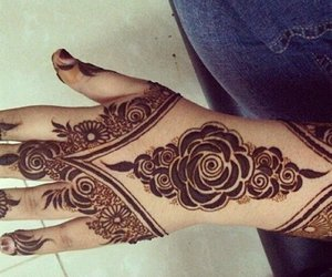 henna, tattoo, and حنة image