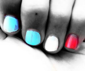 colors, nails, and hand image