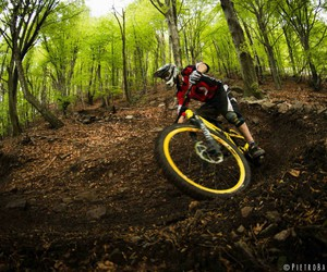 bike, downhill, and mountain bike image