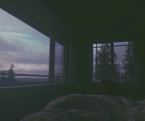sky, grunge, and bed image