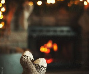autumn, fire, and winter image