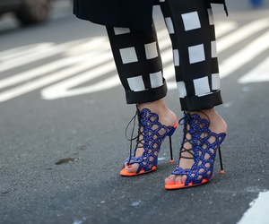 nyfw, sophia webster, and blue pencil heels image