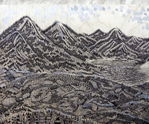landscape, stunning, and woodcut image