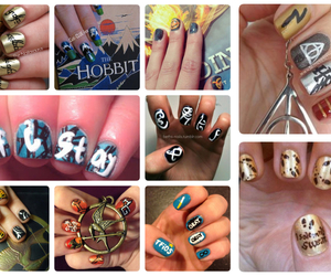 harry potter, lord of the rings, and mockingjay image