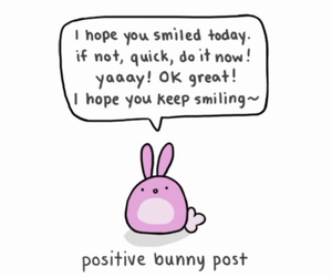 bunny, smile, and positive image