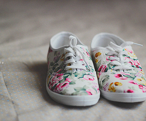 all star, floral, and flowers image