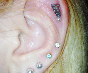 cool, ear, and earrings image