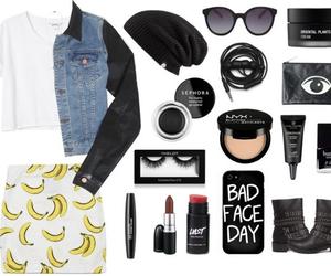 banana, beanie, and fashion image