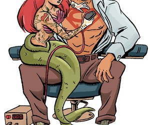 ariel, superman, and tattoo image
