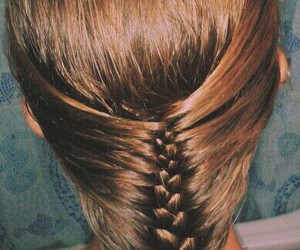 brown, hairstyle, and trenza image
