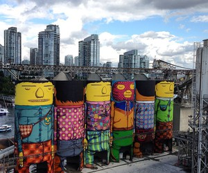 industrial, street art, and os gemeos image