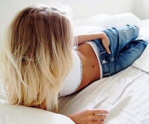 blond, Calvin Klein, and hair image