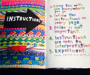 colourful, wreck this journal, and wreck this journal ideas image
