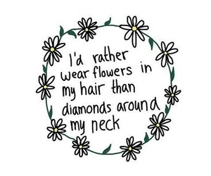 flowers, diamond, and quote image