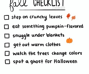 fall, autumn, and checklist image
