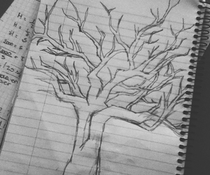 teen wolf, art, and tree image