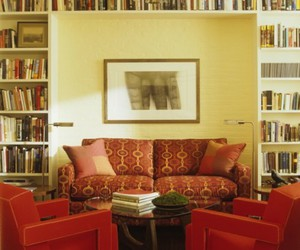 bookshelf and library room image