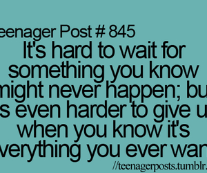 teenager post, true, and wait image