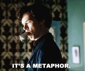 metaphor, tfios, and sherlock image