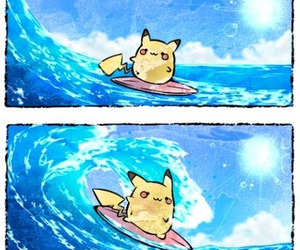 pikachu, pokemon, and beach image