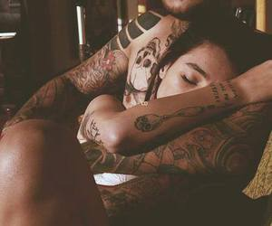 couple, tattooed, and love image