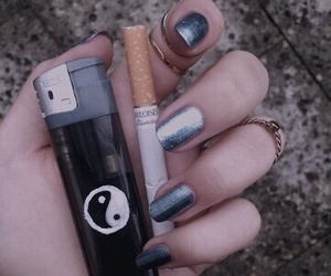 grunge, cigarette, and nails image