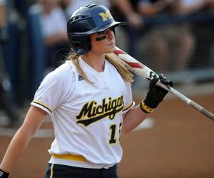michigan, softball, and batting image