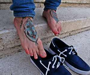 tattoo, anchor, and boy image