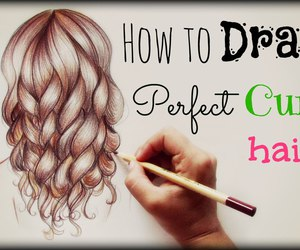 drawing, hair, and perfect image