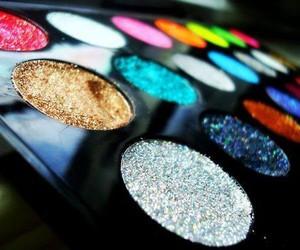 make up, glitter, and makeup image