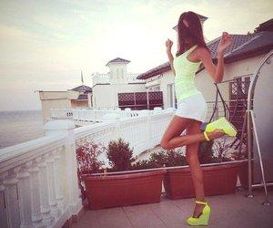 girl, summer, and heels image