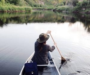 girl, lake, and nature image