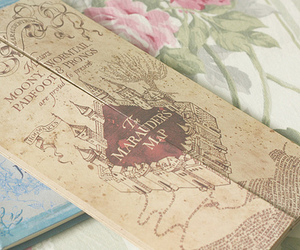 harry potter, map, and vintage image