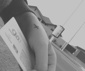 black, black and white, and cross image