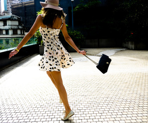 dress, girl, and hat image