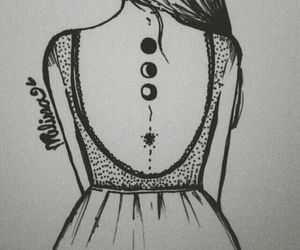 girl, dress, and drawing image