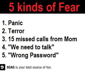 fear, funny, and panic image