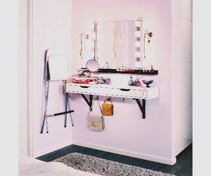 bedroom, dresser, and dressing table image