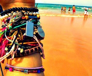 beach, bracelet, and summer image